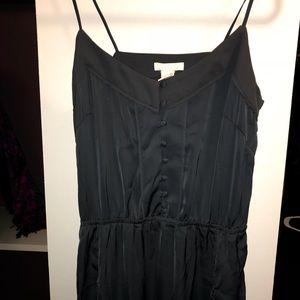 Grey Satin Maxi Dress